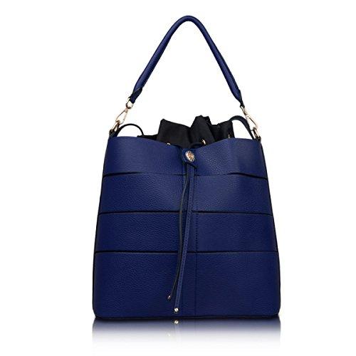 Damen Handtaschen Modische Handtaschen Schulter Diagonal Tasche Lässige Reißverschluss Elegante Umhängetasche Blue