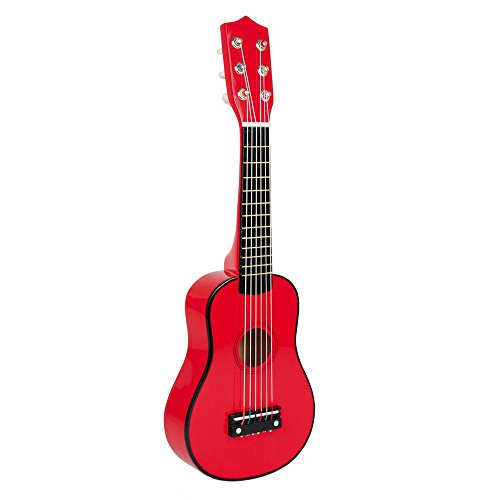 small foot company Guitarra de madera roja