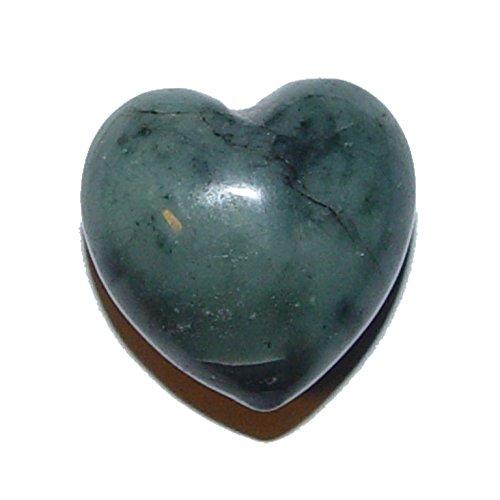 Smaragd Herz klein ca. 20x20x12 mm als Handschmeichler oder Glücksbringer