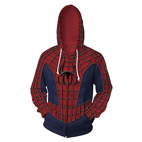 3D gedruckte Remy Spider-Man Venom Superheld Hoodie Kostüm Zipper Cardigan Hooded Sports Sweater Jacke mit - Spiderman Kostüm Hoodie