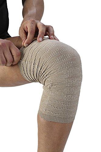 Spikenergy/Spike-cell. Knieschoner. Elastisches Knieband. Elektromagnetische Therapie gegen Schmerzen, Traumata, Entzündungen, Ödeme. Medizinische Einrichtungen (Knie) S grau