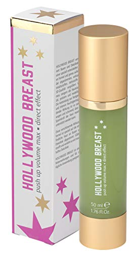 HOLLYWOOD BREAST Push Up Creme | Busen Volumen vergrößern | Brust-Vergrößerung | glatte & straffe Haut am Dekolleté