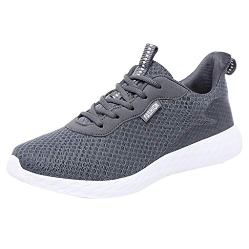 VBWER Herren Damen Schnürer Sneaker Slip on Muffin Unten Sportschuhe Turnschuhe Outdoor Leichtgewichts Laufschuhe Freizeit Atmungsaktive Schuhe