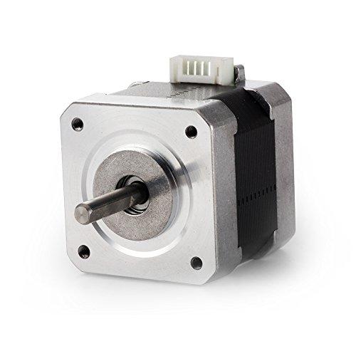 TopDirect Nema 17 Schrittmotor 1.7A 40Ncm (56.2oz.in) 2-Phasen 4-Draht 1.8 Deg Stepper Motor für Hobby CNC 3D Drucker (Motor)