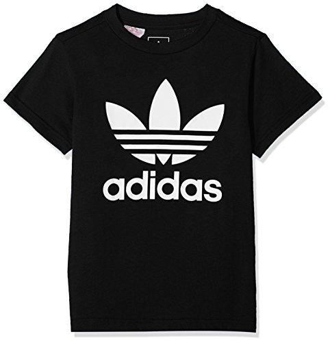 Adidas j trf, t-shirt bambino, nero/bianco, 7-8a