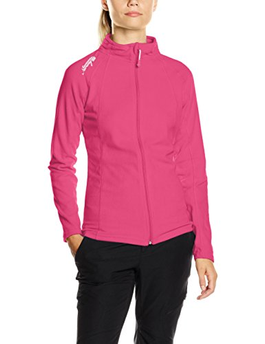 Geographical Norway Damen Outdoor Sweatshirt Talmud Lady Full Zip , Gr. Medium (Herstellergröße: 2), Rosa (FLASH PINK)