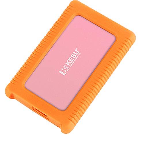 GXLO Externe Festplatte Mini USB 3.0 Portable 2,5-Zoll-Schock-, Drop- und Crush-resistent für PC und Mac,Pink,250GB -