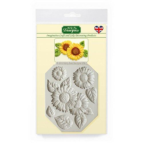 Tone Sonnenblume (Sonnenblumen Silikonform für Kuchen dekorieren, Handwerk, Cupcakes, Sugarcraft, Süßigkeiten, Kartenherstellung und Ton, lebensmittelecht genehmigt, Made in UK, Sonnenblumen)