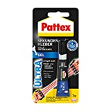 Pattex Sekundenkleber Ultra Gel, extra starker & flexibler Superkleber, stoß- & wasserresistentes Sekundenkleber Gel für z. B. Gummi, Leder, Holz, 1 x 3g