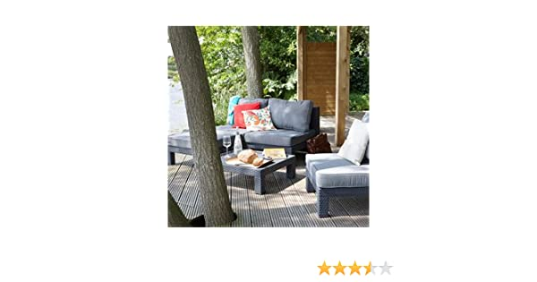 ALLIBERT Salon de jardin anthracite: Amazon.fr: Jardin