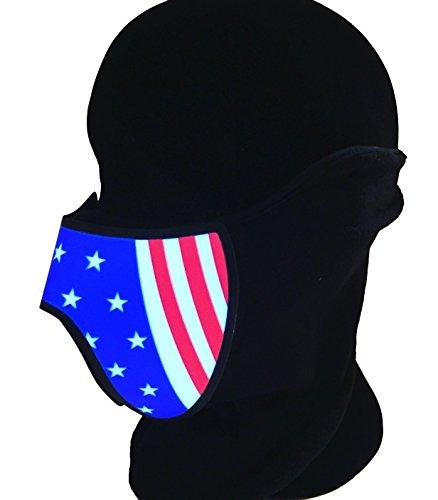 US-Flagge inspiriert LED EL Panel Maske, Rave Maske, Cyber Maske, Kostüm Maske, Cosplay Maske, Halloween Maske. Tanzmusik Maske für Club Rave und Festivals. Halloween-Maske (Cyberpunk Kostüme)