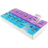 Driverder Aufbewahrungsbox für Tabletten und Pillen für 7 Tage und morgens und abends mit 14 Fächern preisvergleich bei billige-tabletten.eu