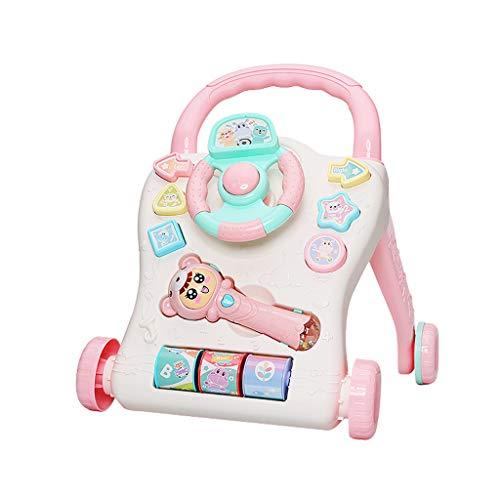 Girello Passeggino Trolley Multifunzione Walker Baby Antiribaltamento Learn To Walk 6-18 Months Baby FANJIANI (Colore : Pink)