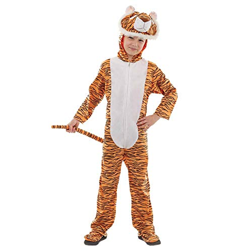 Fun Shack FNK4012M Kostüm, Unisex Children, Tiger Onesie, - Childs Tiger Kostüm
