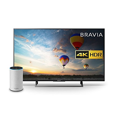 Sony Bravia KD43XE8004 43 inch TV, Black with All New Echo (2nd Generation), Sandstone Fabric Bundle