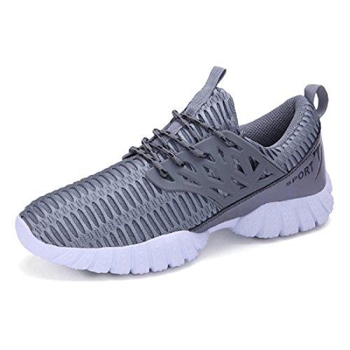 Uomo traspirante Scarpe sportive Formazione Escursionismo scarpe di viaggio Scarpe da corsa formatori gray