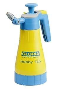 Gloria Drucksprüher Drucksprühgerät 1,25L mit 360Grad Funktion Hobby125, gelb