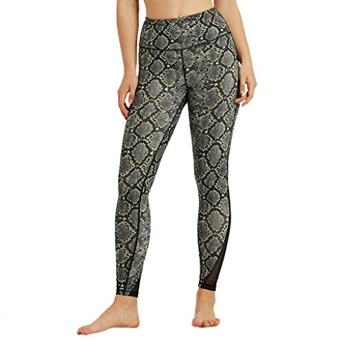 TianWlio Leggings Damen Fitness Sport Hohe Taillen Yoga Hosen Imbiss Druck Bauch Trainings Laufende Sport Gamaschen