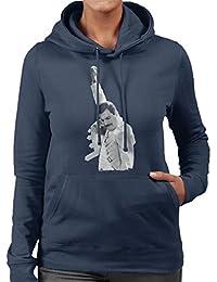 Freddie Mercury of Queen Live In Newcastle 1986 Womens Hooded Sweatshirt