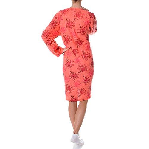 BEZLIT -  Camicia da notte  - Collo a U  - Maniche lunghe  - Donna Rot