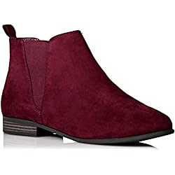 City Outlet Botines Chelsea Mujer, Color Rojo, Talla 38