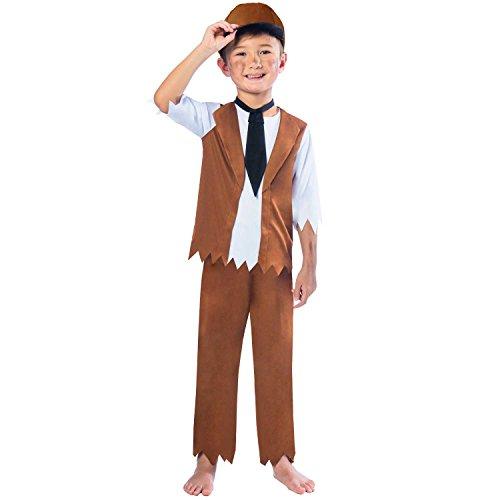 Viktorischer Junge Kinderkostüm 7-8 Jahre / - Viktorianisches Straßenkind Kostüm