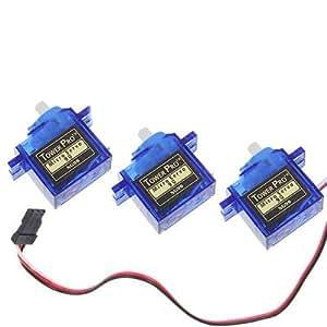 Tower Pro SG90 Lot de 3 micro servomoteurs pour modèles réduits 9g