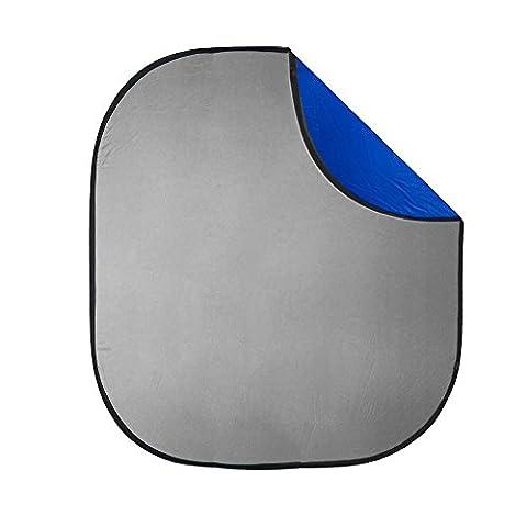 'PIXAPRO Fond pliable pour photographie (2x 2,3m Chromakey Bleu/gris Réversible Panneau 79x stockage de transport portable Durable de haute qualité * Livraison rapide * Royaume-Uni Stock * Iva Suite