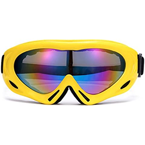 BGFG Monostrato Anti-fog Occhiali Da Sci 19 Centimetri × 10 Centimetri,Yellow