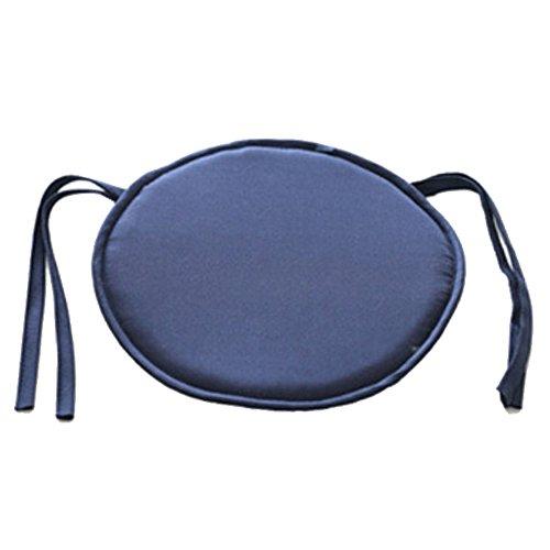 Emvanv cuscino rotondo imbottito per sedia, da interno, per sala da pranzo, giardino, casa, ufficio e cucina, navy blue, taglia libera