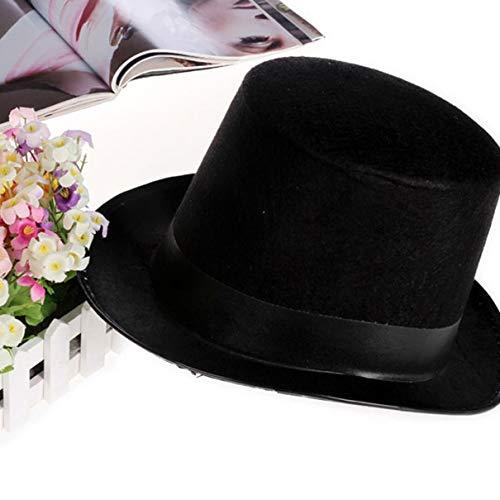 Hanmarigold Hut Jazzhut Halloween Hersteller Requisiten 78g (groß) hohe 16CM für Magic Cosplay ()