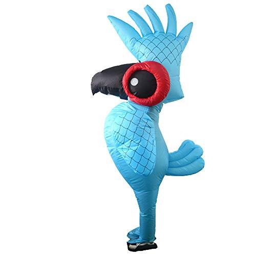 Für Blow Kostüm Up Trex Erwachsene - JASHKE Aufblasbare papagei kostüm Fancy Dress Blow up & kostüm Halloween Cosplay Kleidung für Erwachsene