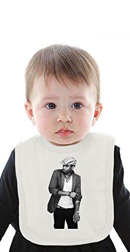 Trey Songs R&B Soul Celebrity Organic Baby Bib With Ties Medium