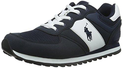 Polo Ralph Lauren Kinder (Polo Ralph Lauren Unisex-Kinder slaton Low-Top, Blau White/Navy), 40 EU)