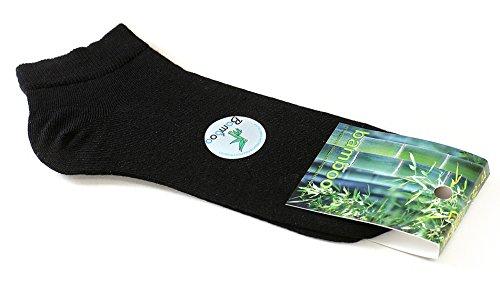 Calcetines de BAMBÚ - BOX 5 pares calcetines de alta calidad, Sneaker calcetines bajos de bamboo, Respirables Efecto , 42 - 44 multicolor ( Negro ,Gris )