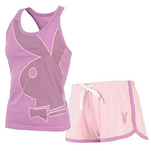 damen-playboy-rosa-flieder-pyjama-set-damen-weste-oberteil-spitzen-shorts-pyjama-nachtwsche-multi-x-