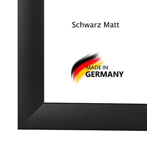 Bilderrahmen PN35 100x140 oder 140x100 cm in SCHWARZ AntiReflex Kunstglas und Rückwand, 35 mm breite MDF-Leiste mit Dekor Folienummantelung (18-poster Apollo)