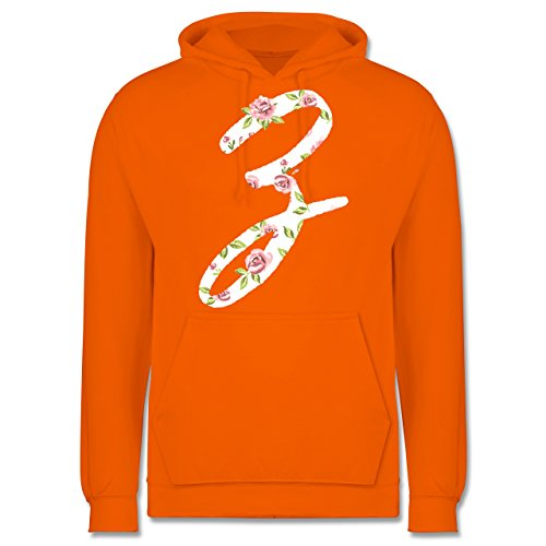 Anfangsbuchstaben - Z Rosen - Männer Premium Kapuzenpullover / Hoodie Orange