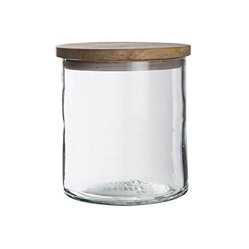 Ib Laursen - Vorratsglas, Aufbewahrungsglas, Glaskrug mit Holzdeckel - Mynte - 600 ml - Ø10 cm