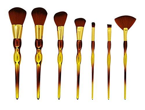 Maquillage Brush Set 7 courge poignée dégradé couleur Ombres à paupières Lèvres Fondation Brosse Cosmétiques Brosses Kit de maquillage Outils