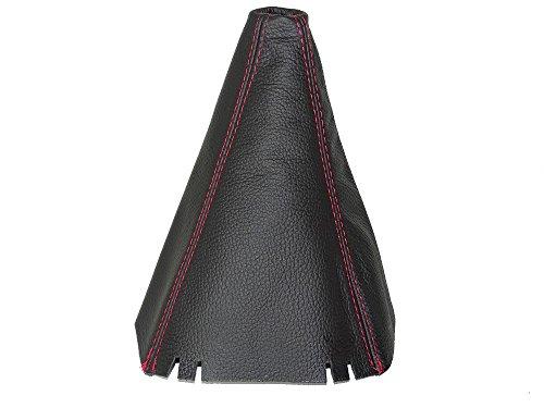 Für Seat Altea XL 2005-14Gear Stick Gaiter schwarz echtes Leder Naht Rot