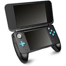 kwmobile Grip per New Nintendo 2DS XL - compatibile anche con Nuovo Nintendo 2DS LL - impugnatura controller con supporto per console Nintendo - nera