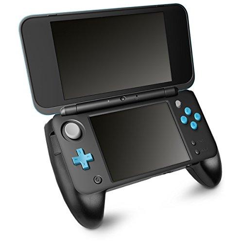 kwmobile Poignée Nintendo NEW 2DS - Manette protection pour console jeux fonction support arrière - Compatible avec NEW 2DS XL et NEW 2DS LL - noir