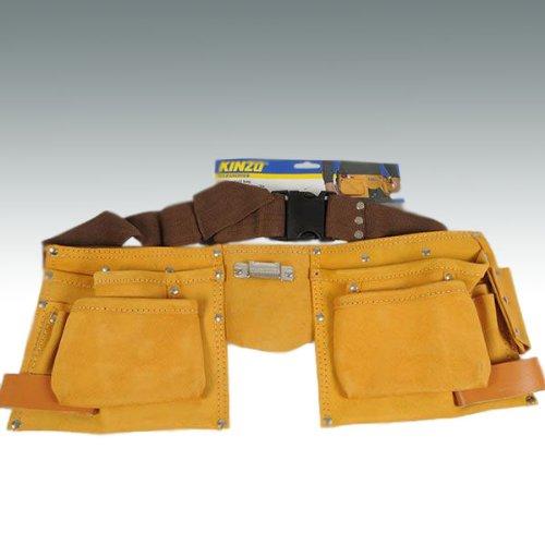 Preisvergleich Produktbild Work-it 26200 Leder Werkzeuggürtel mit diversen Taschen und Halteschlaufen