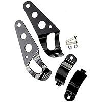 Soporte de montaje del faro - TOOGOO(R)2x 35-43mm Soporte negro de montaje del faro de motocicleta para Cafe Racer Chopper