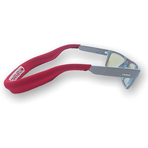 CARVE Brillenband Neopren Rot schwimmfähig für Wassersport