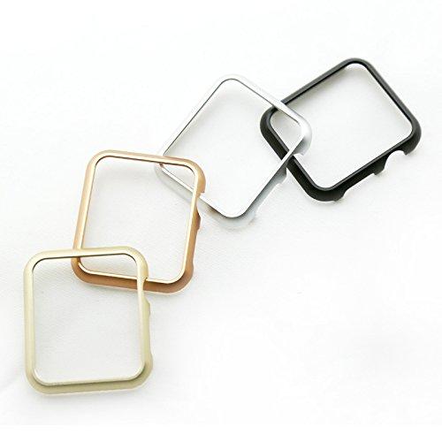 Preisvergleich Produktbild Apple Watch Aluminium Hülle,  qualiquipment iWatch Zubehör Case Bumper Cover Schutzhülle 42mm 38mm für Series1,  Series2,  Series3 (42mm Schwarz)