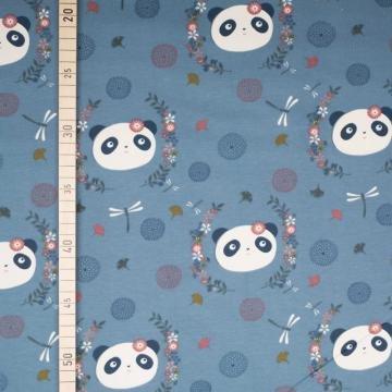 Sweet Panda - Blau - French Terry
