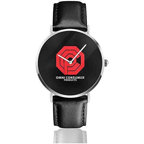 Unisex Business Casual Omni Konsumgüter Robocop, Trucker Cap Uhren Quarz Leder Uhr