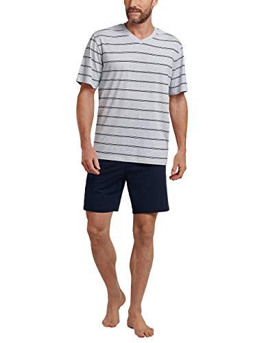 Schiesser Herren Zweiteiliger Schlafanzug Kurz, Grau (grau-mel. 202), X-Large (Herstellergröße: 054)